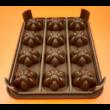 Szilikon tescoma csoki öntő forma tölthető 12 darabos