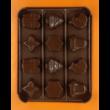 Szilikon tescoma csoki öntő forma karácsonyi 12 darabos