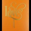 Love arany beszúrható dísz