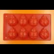 Karácsonyi díszek 8 darabos szilikon sütőforma