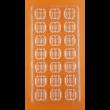 Polikarbonát csoki öntő dupla cukorka forma 21 darabos