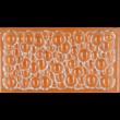Polikarbonát csoki öntő forma táblás csoki buborékos 3 darabos