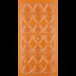 Polikarbonát csoki öntő forma borostyán levél 21 darabos