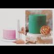 Torta oldal simító mintázó kétoldalas habkártya 1