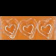 Polikarbonát csoki öntő forma dupla szív 15 darabos