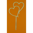 Dupla szív arany beszúrható dísz