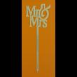 Mr & Mrs arany beszúrható dísz