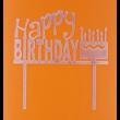 Happy Birthday rózsaszín beszúrható dísz