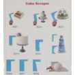 Torta oldal simító mintázó habkártya
