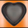 Kapcsos szív fekete tortaforma 23cm