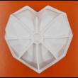Gyémánt szív nagy szilikon sütőforma