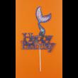 Happy Birthday sellő kék beszúrható dísz