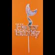 Happy Birthday sellő pink beszúrható dísz