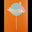 Ledes Happy Birthday flamingó beszúrható dísz