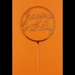 Happy Birthday kerek arany beszúrható dísz
