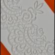 Cukorcsipke sablon csipke bordűr
