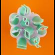 Fondant / marcipán mintázó csipesz szett sima nagy