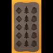 Szilikon csoki öntő forma karácsony 15 darabos