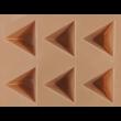 Szilikon csoki öntő forma piramis 15 darabos