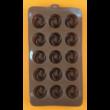 Szilikon csoki öntő forma rózsa 15 darabos