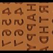 Szilikon csoki öntő forma happy birthday 49 darabos