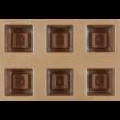 Szilikon csoki öntő forma kocka 15 darabos