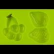 Szilikon csoki öntő forma gyümölcsök 6 darabos