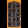 Szilikon csoki öntő forma szív és csillag 15 darabos