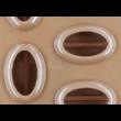 Szilikon csoki öntő forma kávészem 7 darabos