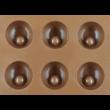 Szilikon csoki öntő forma félgömb 15 darabos