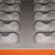 10 darabos szilikon mousse sütőforma