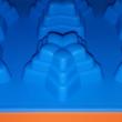 Csillag piramis 6 darabos szilikon sütőforma