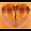 Csókolózó szívek kétrészes tortaforma