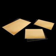 Tortaalátét szögletes 30x15 cm Black & Gold