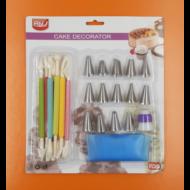 Formázó toll szett díszítőcsövekkel és habzsákkal