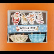 Karácsonyi muffin papír beszúrókkal 100+20 darabos