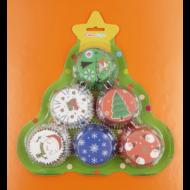 Karácsonyi muffin papír 144 darabos