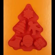 Karácsonyi figurák 6 darabos fenyő alakú szilikon sütőforma