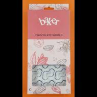 Polikarbonát csoki öntő hullám forma 21 darabos