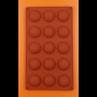 Félgömb közepes 15 darabos szilikon sütőforma
