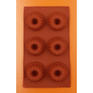 Kis kuglóf forma 6 darabos szilikon sütőforma
