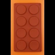 Lapos korongok 8 darabos szilikon sütőforma