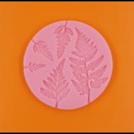 Szilikon forma páfrány levelek