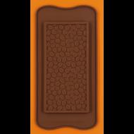 Szilikon csoki öntő forma táblás kávé mintás 1 darabos