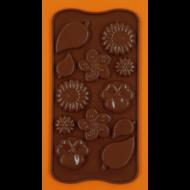 Szilikon csoki öntő forma mezei virágok 12 darabos
