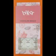 Polikarbonát csoki öntő félgömb forma kicsi 24 darabos