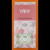 Polikarbonát csoki öntő félgömb forma nagy 24 darabos