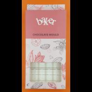Polikarbonát csoki öntő forma táblás csoki 4 darabos