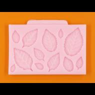 Szilikon forma rózsa levelek