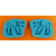 Szilikon forma sárkány 3D
